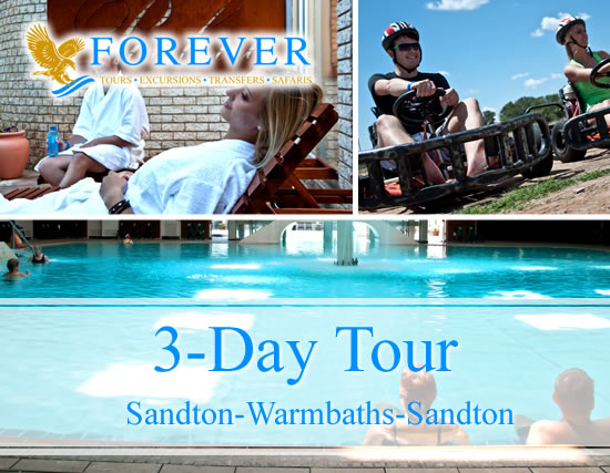 3 Day Tour: From Sandton to Warmbaths